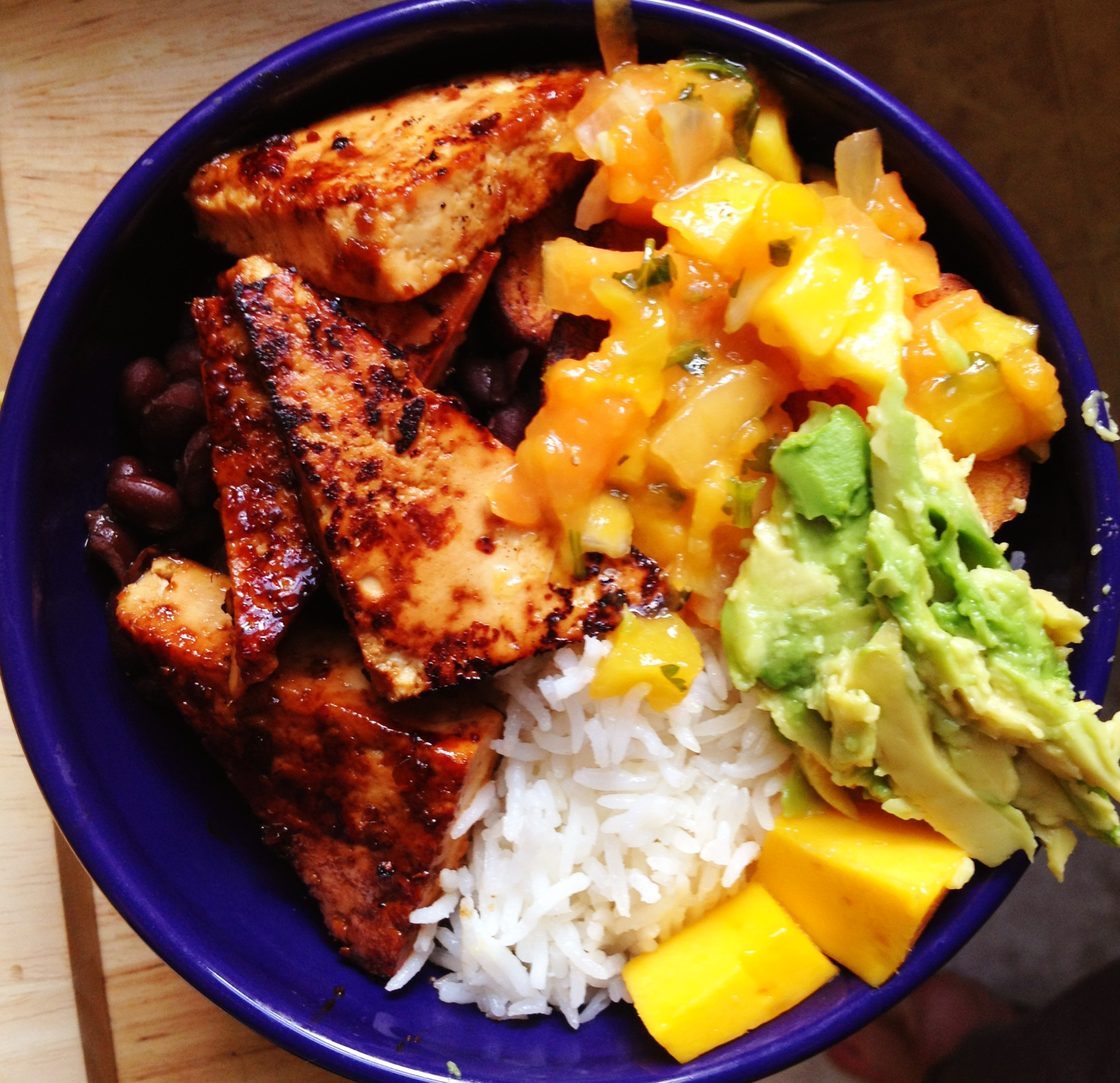 salsa grilled tofu with pineapple salsa and coconut rice grilled tofu ...