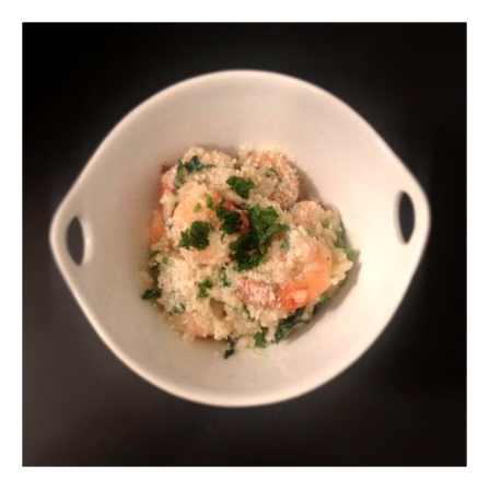 Shrimp Risotto with Watercress